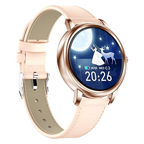 Intelligente uhr füR Frauen, Damenuhren AktivitäTs-Tracker, Fitness-SchrittzäHler, Wechat-Kampagne zur UnterstüTzung der Schlaferkennung, Fitness-Tracker füR Frauen füR (Android Ios)
