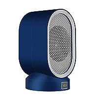 新品のデスクトップヒーター、ミニヒーター、電源を入れるとすぐに加熱する低ノイズエアヒーター、均一な熱。寝室、キッチン、オフィスで熱風送風機を使用 (ブルー)