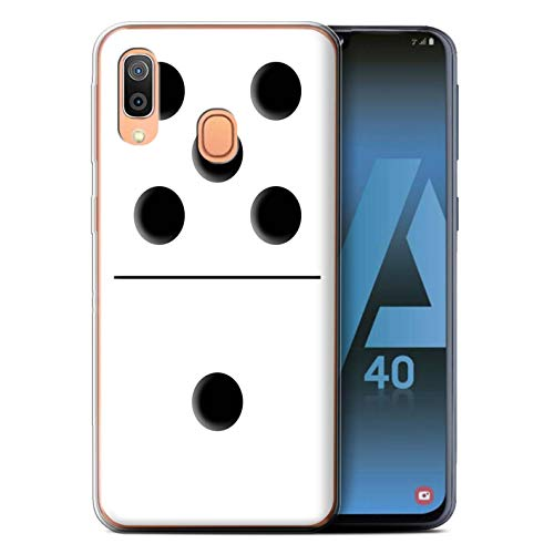 eSwish Phone Case/Cover/Skin/SG-GC/Dominoes/Dominos Collection Samsung Galaxy A40 2019 Wit tegel 5/1