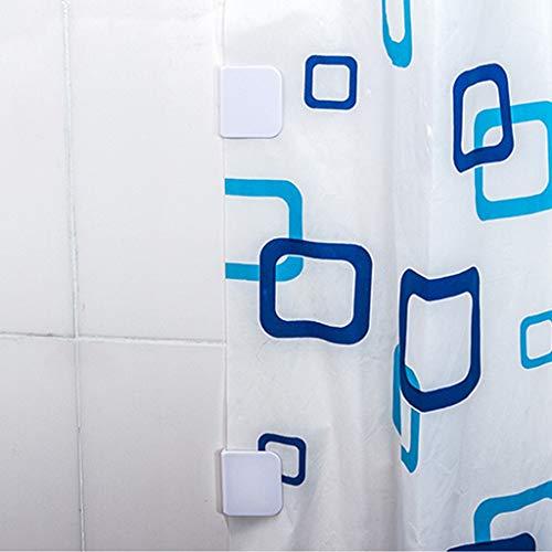 Amhomely® Winddichter fester Clip - Befestigungsclip für Badvorhang - Anti-Splash-Duschvorhang-Clips verhindern das Austreten von Wasser Starker Haken