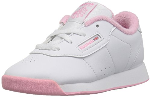 Reebok baby girls Classic Leather Sneaker, White/Neon Blue/Solar Yellow, 4 Infant US