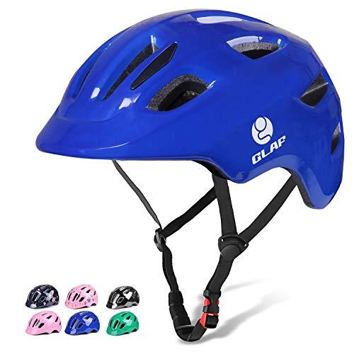 GLAF ヘルメット こども用 自転車 ヘルメット 1-8歳 頭囲 46~54cm 子供用 キッズ 超高耐衝撃性 耐久性 軽量 サイクリング スケートボード ローラースケート 幼児 小学生 (ブルー, XS)