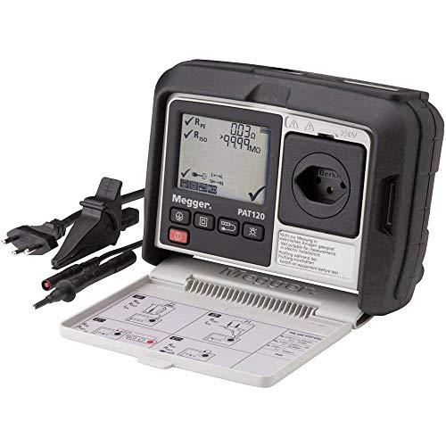 Megger 1003-074 PAT120-CH Gerätetester, Schutzleiterwiderstand mit 200 mA, Isolationsprüfung mit 250V und 500V, Ersatz-Ableitstrom, Verlängerungen