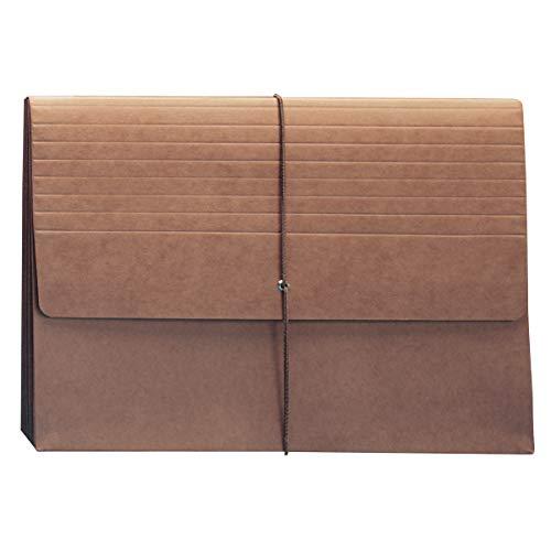 Smead Carteira de arquivo expansível com aba e fecho, expansão de 13,7 cm, tamanho carta extra ampla, Redrope, 10 por caixa (71186)
