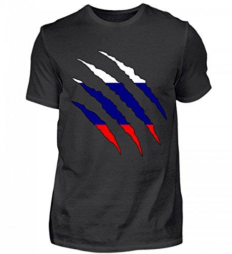 Hochwertiges Herren Shirt - Russland WM Fan Tshirt Russische Nationalmannschaft Shirt Trikot