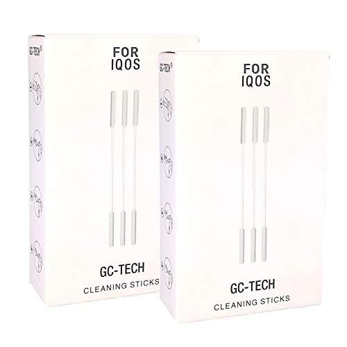 GC-TECH SET Bastoncini per la pulizia e assorbenti d olio compatibile con IQOS Holder 2.4 3 Duo e penne di pulizia Multi (2.) 60 Bastoncini per la pulizia)