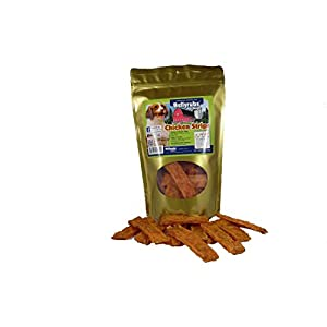 Bellyrubs Chicken Strips for Small to Large Dogs 10oz | Real Chicken Jerky Sticks | All-Natural Gluten & Grain Free Chicken Jerky Treats | High Protein Dog Training Chews | Made in USA