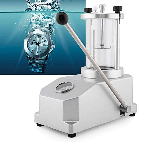 Herramienta de reparación de reloj resistente al agua, 10 bar, 6 ATM, 2 relojes, máquina de prueba de presión resistente al agua, presión de aire 0,3 – 6