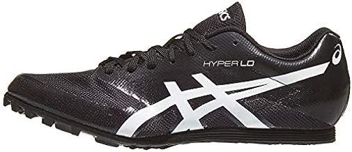 ASICS Men's Hyper LD 6 Track & Field Shoes, 10, Black/White