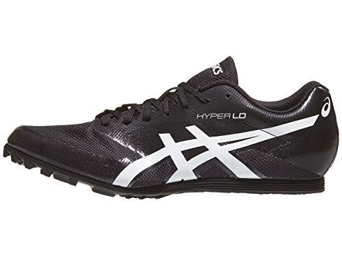 ASICS Men's Hyper LD 6 Track & Field Shoes, 10W, Black/White