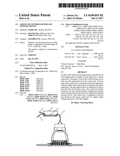 Add-on IPS controller for LED lighting device: United States Patent 9699855 (English Edition)