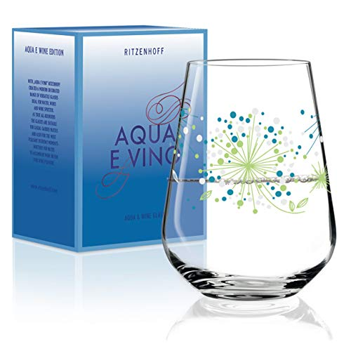 RITZENHOFF Aqua e Vino Wasser- und Weinglas von Véronique Jacquart, aus Kristallglas, 540 ml, im modernen Design