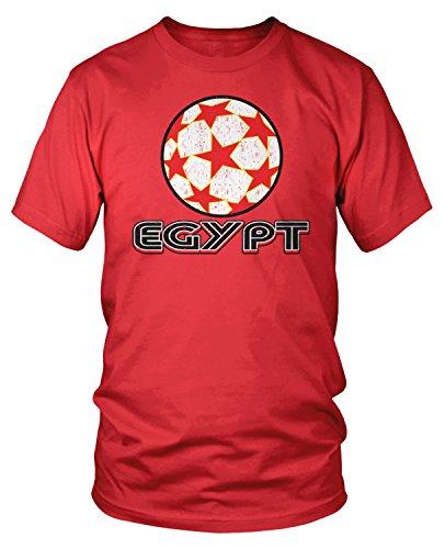 Amdesco Men's Egypt Soccer Pride, Love Egyptian Football T-Shirt, Red Large
