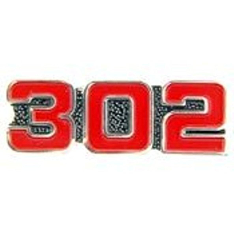 EagleEmblems P05938 PIN-CAR,Number,302 RED (1'')