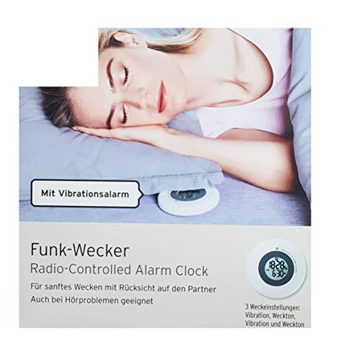 Tchibo TCM Funk Wecker Funkwecker mit Vibrationsalarm