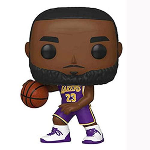 Licht-ZT NBA Pop Figure Lebron James [Purple Jersey] Chibi Vinly PVC Decor Collection Model Decorations