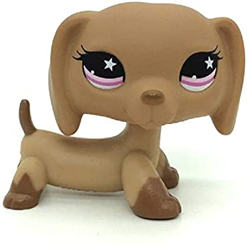 Littlest Pet Shop LPS Toy Sparkle Action Figures Kids Toy Gift,Cute Cartoon Pets Dachshund Dogs Toy Mini Pet Shop Toys