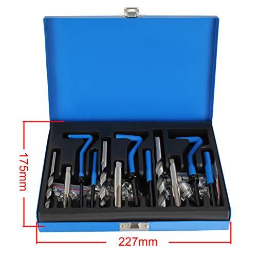 Gewinde Reparatur Set 131tlg M5 M6 M8 M10 M12 Gewindeeinsätze Coil instandsetzen