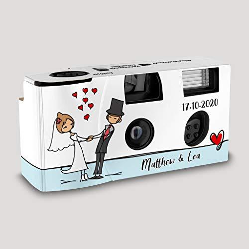Hochzeitskamera Einwegkamera Couple - Dancing 2 mit Personalisierung, ISO 400, 27 Aufnahmen, Blitz