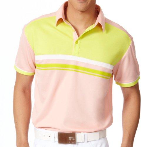 Su.B - Golf-T-Shirts für Herren in Pink/Green, Größe 3XL