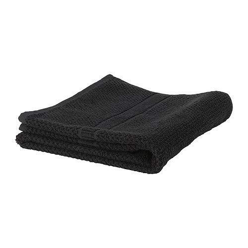 IKEA FRÄJEN Handtuch in schwarz; (70x140cm)