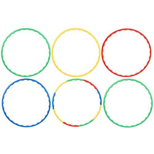 Bramble - 6 Stück Hula Hoop Reifen - Einstellbar & Zusammensteckbar - sortierte Farben