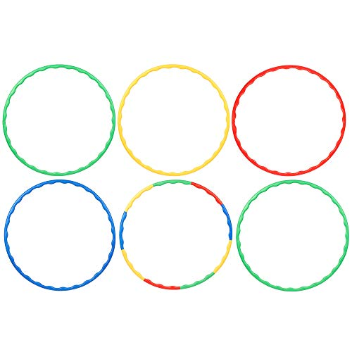 Bramble 6 Einstellbar Hula Hoop Reifen, 80 cm - Bunt & Abnehmbar Reifen- Hochwertigen und Langlebigen Material| Ideales Spielzeug Geschenkset & Spiel für Kinder, Fitness, Sport & Gymnastik.
