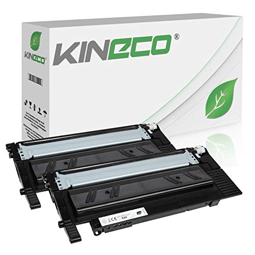 2 Toner kompatibel zu Samsung Xpress C480W/TEG, C480FW/TEG, Xpress C430W/TEG - CLT-K404S/ELS - Schwarz je 1.500 Seiten