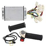Emoshayoga Kit de Controlador de Cepillo de 1000 W, Juego de puños de Acelerador Universal de 48 V, Potente para almacenar y apoyar en talleres y emergencias