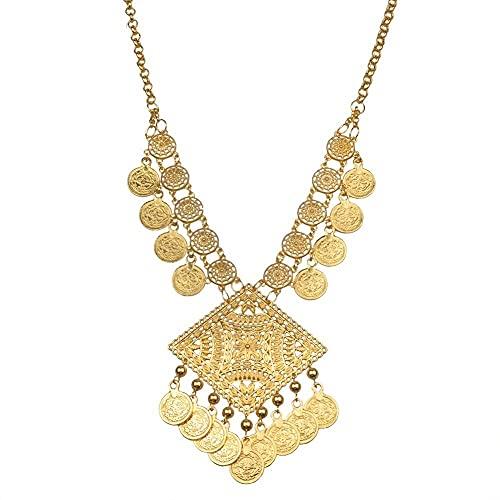 66 CM collares de monedas de pavo para mujeres Mosmanli Turasi kolye Turk joyería artículos étnicos regalos árabes africanos # 082606