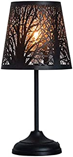 KANSTAR H9-NVE5-C0V0 Bed Side Table Lamp Desk Lamp with Lamp Shade (Forest), 15