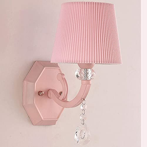 YLJYJ Apliques de Pared Lámpara de Pared Colgante de luz LED de Tres Colores Moderna y Simple, Chasis de Hardware Luces de Pared Colgantes de Cristal