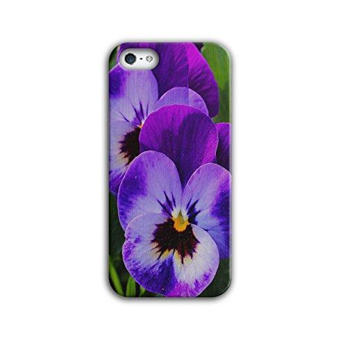 Wellcoda Stiefmütterchen Wild Foto Natur Hülle für iPhone 5 / 5S Natur Rutschfeste Hülle - Slim Fit, komfortabler Griff, Schutzhülle