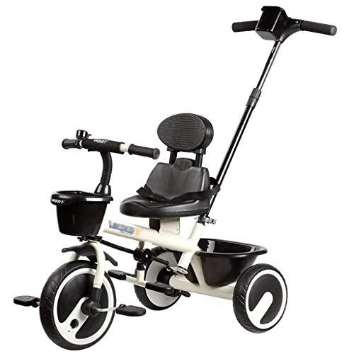 Qinmo Tragbare Kinderwagen - Folding Stroller Hoch Landschaft Freien Kinder-Bike, dreirädrige Bremsanlage, Folding Fußpedale (Color : Red)