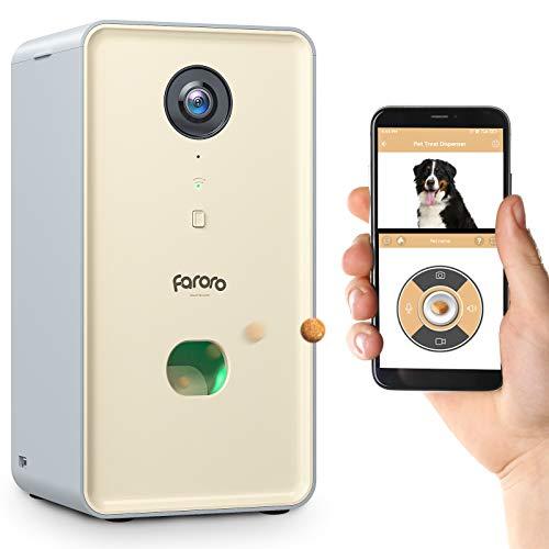 Faroro Dog Camera Treat Dispenser 1080P FHD Night...