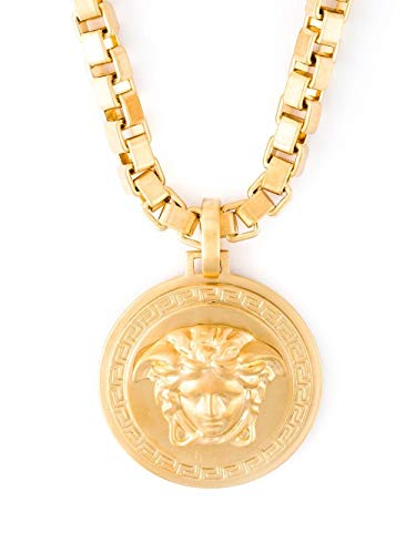 Medusa 'Gentlemen' Pendant Luxury Necklace - Gold