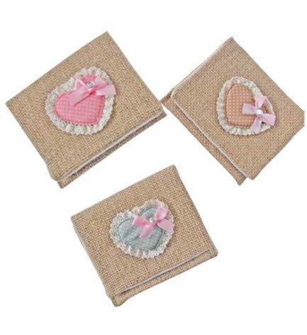 Lote de 20 Portatodos Yute Saco Corazón - Detalles Originales para Invitados de Bodas, Regalos Baratos para Comuniones y Cumpleaños Infantiles