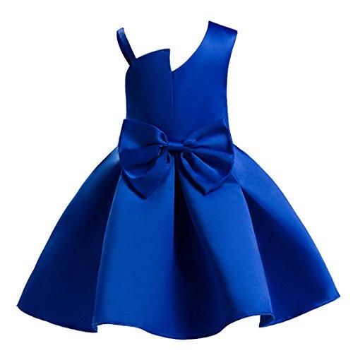 AnKoee Vestido Elegante Rojo y Azul Boda Fiesta para Niña (2 a...
