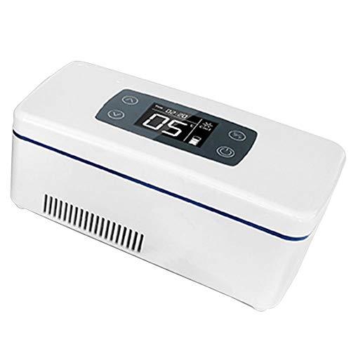 LXMBox Insulin-Kühlbox, tragbarer Mini-Auto-Kühlschrank, Kleiner medizinischer Kühlschrank-Kühler-Wärmer für konstante Temperatur-Tiefkühlgeräte für das Auto zu Hause