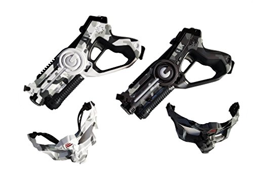 BSD Call of Life WINYEA Laser Tag Set Kampf Laser Spielzeugpistolen Militär Weiß und Militär Schwarz + Masken