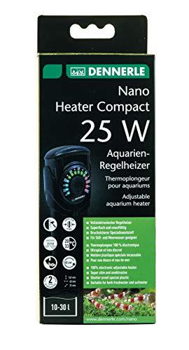 Dennerle 5697 Nano Heater Compact 25 Watt | Regel-Heizer für Aquarien von 10-25 Liter