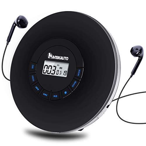 NAVISKAUTO Upgraded Portable CD Player with 2000mAh Rechargeable Battery,...