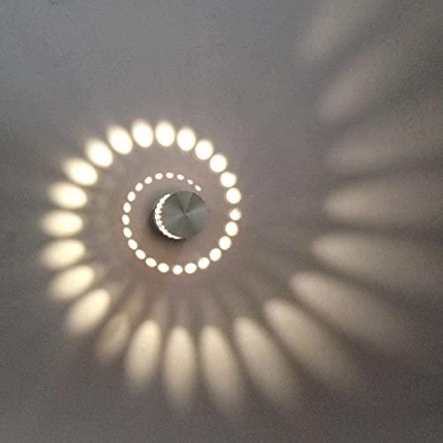 Lámpara de pared LED de 3 W, luz de pared interior, lámpara de baño, foco de techo para pasillo, dormitorio, balcón, salón