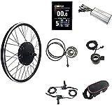 HYCy Kit de conversión de Bicicleta eléctrica 48 V 1500 W 20'/ 24' / 26'/ 27,5' / 28'/ 29' / 700C Kit de Motor de conversión de Bicicleta eléctrica de Rueda Trasera Bicicleta eléctri