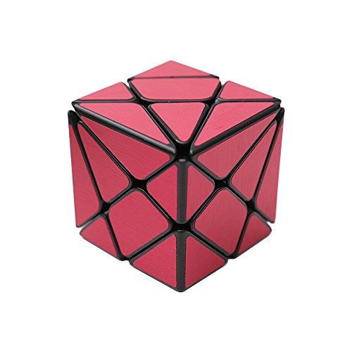Wings of Wind - Irregular Cubo mágico 3x3, Cepillado Etiqueta Cubo de Velocidad YongJun cambiante y más desafiante Puzzle Cube (Rojo)