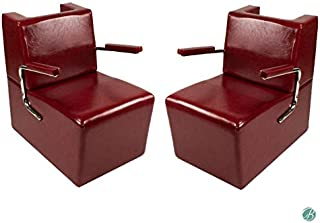 Set of 2 EDISON Salon Hair Dryer Chair CRIMSON Salon Barber Shop Beauty Salon Furniture & Equipment