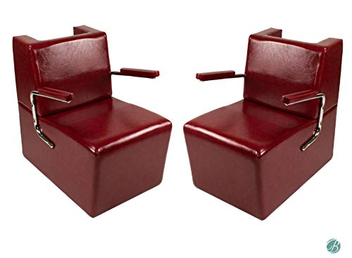 Set of 2 EDISON Salon Hair Dryer Chair CRIMSON Salon Barber Shop Beauty Salon Furniture & Equipment
