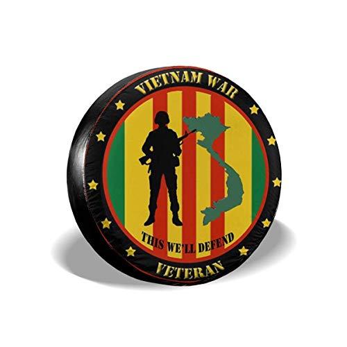 MOLLUDY Funda de Rueda de Repuesto Veterano de Guerra de Vietnam: Esta...
