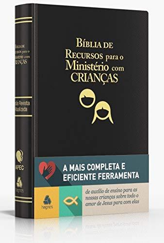 Bíblia de recursos para o ministério com crianças - Luxo PU preta: Ferramenta de auxílio de ensino para as nossas crianças sobre todo o amor de Jesus para com elas