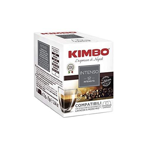 160 Capsule Caffe Kimbo Compatibili Lavazza a Modo Mio Miscela Intenso box da 10 Capsule